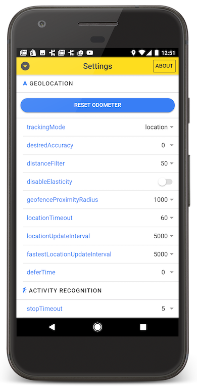 Flutter Background Geolocation